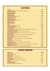 Menu Restaurant Sitar - Entrées et pain indien