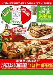 Carte et menu Sirrentina Pizza  Ivry sur Seine