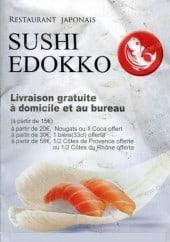 Menu Sushi Edokko - Carte et menu Sushi Edokko Ivry sur Seine