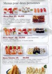 Menu Sushi Edokko - Les menus pour deux personnes