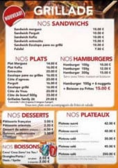 Menu Le Family 26 - Les sandwiches, plats, burgers,...