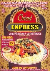 Menu L'Orient Express - Carte et menu L'Orient Express Fresnes