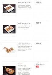 Menu Sushi kyo - Les menus yakitoris suite