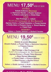 Menu Shiva - Les menus
