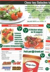 Menu Speedza - Les salades, desserts, boissons,...