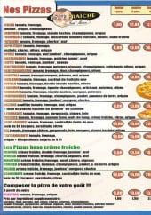 Menu La Squadra Pizza - les pizzas
