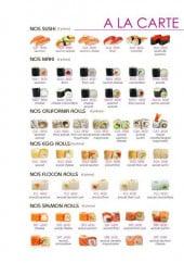 Menu Kinzan - Les sushis, les makis,...