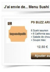 Menu Buzz Sushi - Les Menus Arigato