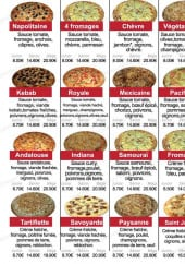Menu Pizza Dinapoli - Les pizzas suite