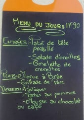 Menu Passion Latina - Exemple de menu
