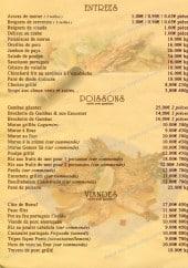 Menu Ilha Doce - Les entrées, poissons et viandes