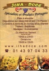 Menu Ilha Doce - Carte et menu de l' Ilha Doce à Champigny sur Marne