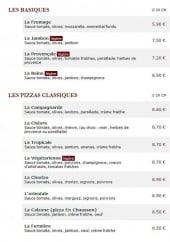 Menu Le Kiosque à Pizzas - Les basiques et pizzas classiques