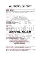 Menu Brasa Rio - Poissons
