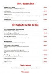 Menu Taverna Grill - Les salades et grillades