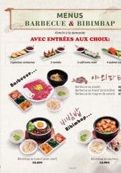 Menu Gin'ro - Les menus barbecue et bibimbap