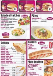 Menu La terrasse - Les salades, les burgers ...