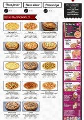 Menu La terrasse - les pizzas et menus
