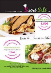 Menu Sucre & sale - Les formules