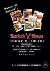 Menu Barbak House - Carte et menu Barbak House Argenteuil