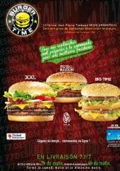Menu Burger Time - Carte et menu Burger Time Argenteuil