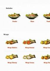 Menu Fast N'Good - Les salades, wraps