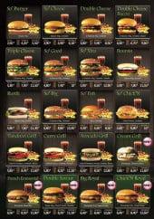 Menu Fast N'Good - Les burgers