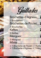 Menu L'escale - Grillades et sandwiches