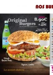 Menu Le Pari's - Les burgers