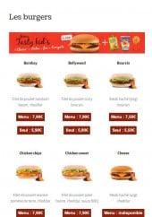 Menu Livraison Burger - Les burgers