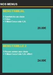 Menu Olivier Pizza - Les menus