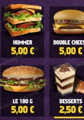 Menu Planet Sandwich - Les burgers