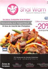 Menu Shai Waim - Carte et Menu Shai Wam Argenteuil