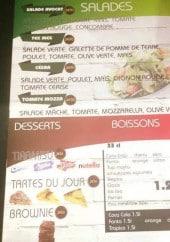 Menu So times - Les salades, les boissons et desserts