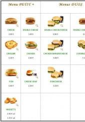Menu Tou'Time - Les menus