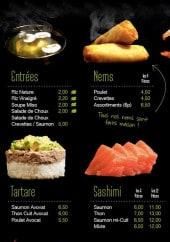 Menu Wok & Go - Les entrées, nems, tartares,...