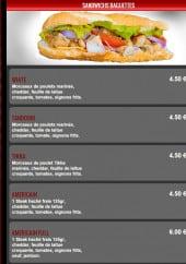 Menu Food Station - Sandwiches baguettes