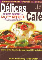 Menu Délices Café - Les carte et menu de délices café  à taverny