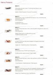 Menu Pop Sushi - Les menus poissons