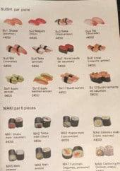 Menu Sakura - Sushi et maki