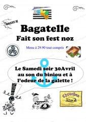 Menu Bagatelle - Menu a 29.9€