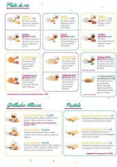 Menu Mama Rice - Plats, grillades et pastels