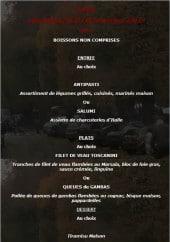 Menu La Barcarola - Menu 38€