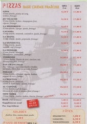 Menu La Storia - les pizzas crème fraiche