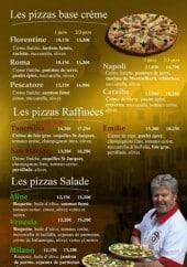 Menu Pizzeria Graffagnino - Les pizzas à base de créme