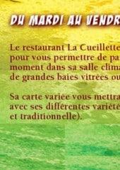 Menu Restaurant  La Cueillette - Les informations supplementaires
