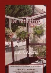 Menu Bistrot La Vitrine - Carte et menu La Vitrine Bistrot Roissy en France