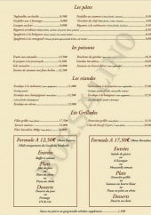 Menu Le Borsalino -  Les pâtes, poissons