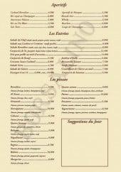 Menu Le Borsalino -  Les apéritifs, entrées...
