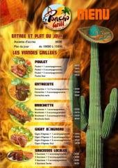 Menu Poncho Grill - Les viandes grillés